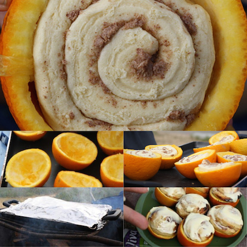 Campfire cinnamon rolls - saving this! Must try.