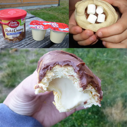 Campfire Eclairs - Heavenly! Made with chocolate frosting and vanilla pudding.