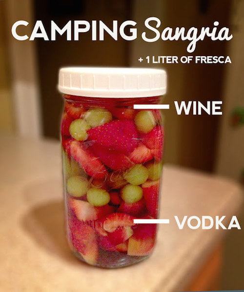Camping Sangria - easy, portable recipe.