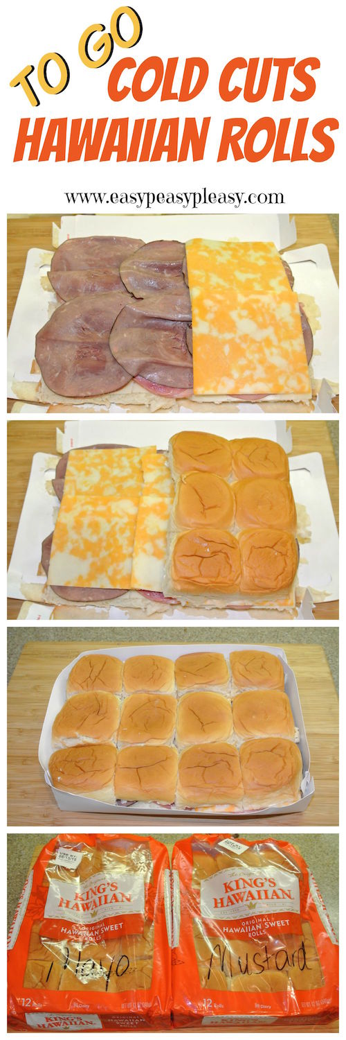 Prepare ahead and take it to go! Cold Cut Hawaiian Rolls are the perfect addition to your cooler when hitting the lake, park, tailgating, or road tripping.