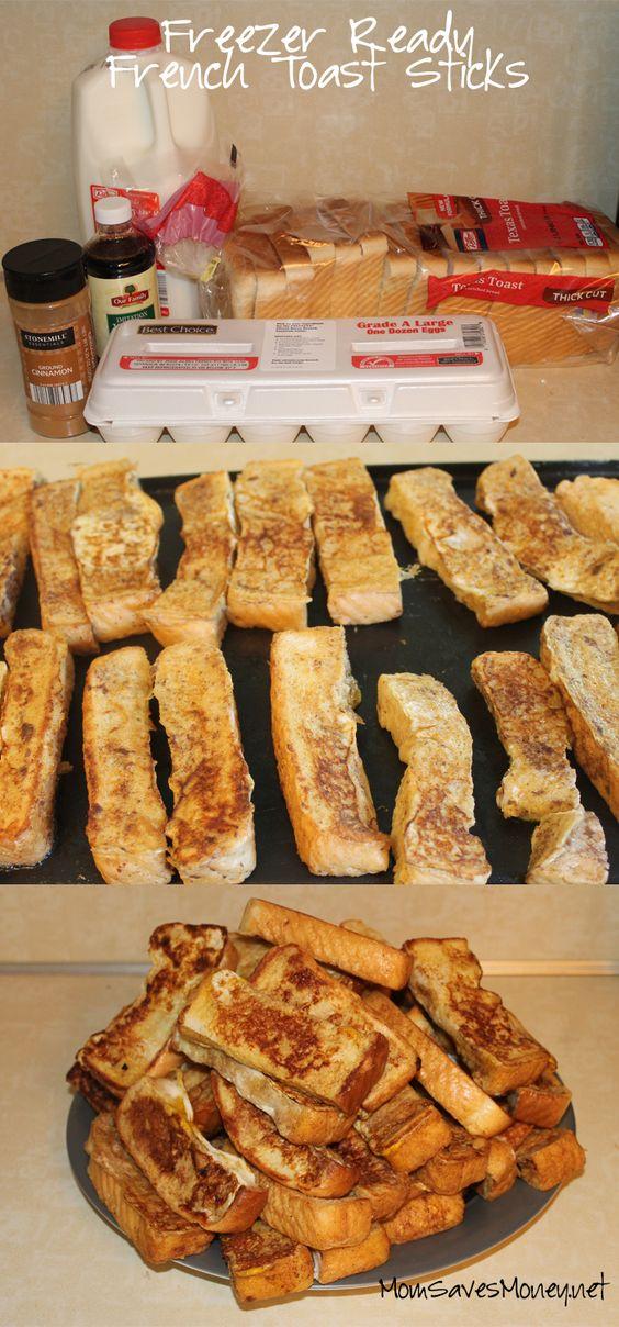 Freezer Ready French Toast Sticks recipe!