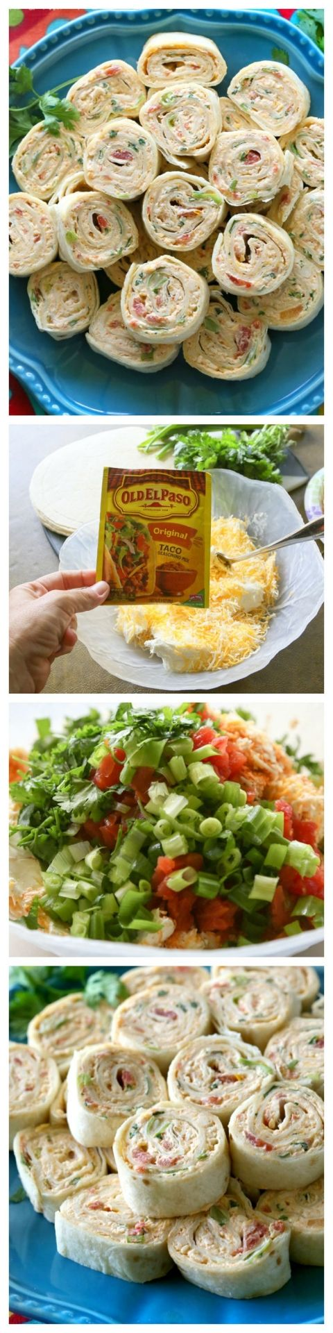 These Chicken Enchilada Roll Ups are a great appetizer or pack & go lunch idea! Easy to make ahead and easy to serve.