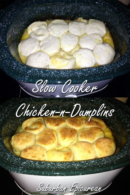 Slow cooker Chicken and Dumplings- the perfect end to a day spent in the crisp autumn air!