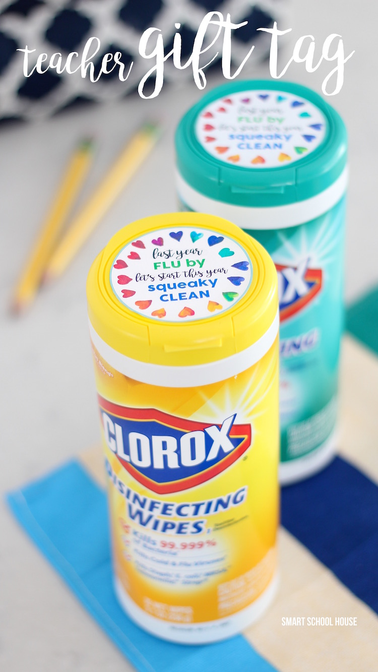Colorox Wipes Teacher Gift Tag for Back to School or the New Year