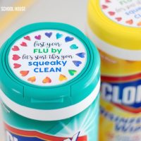 Clorox Wipes Teacher Gift Tag