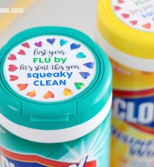 Clorox Wipes Lid Gift Tag for Teachers