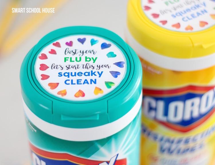 Clorox Wipes Teacher Gift Tag - Smart School House