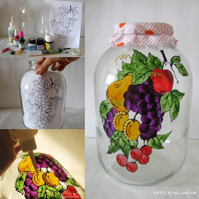 DIY Jar Art - craft ideas - easy decorations!