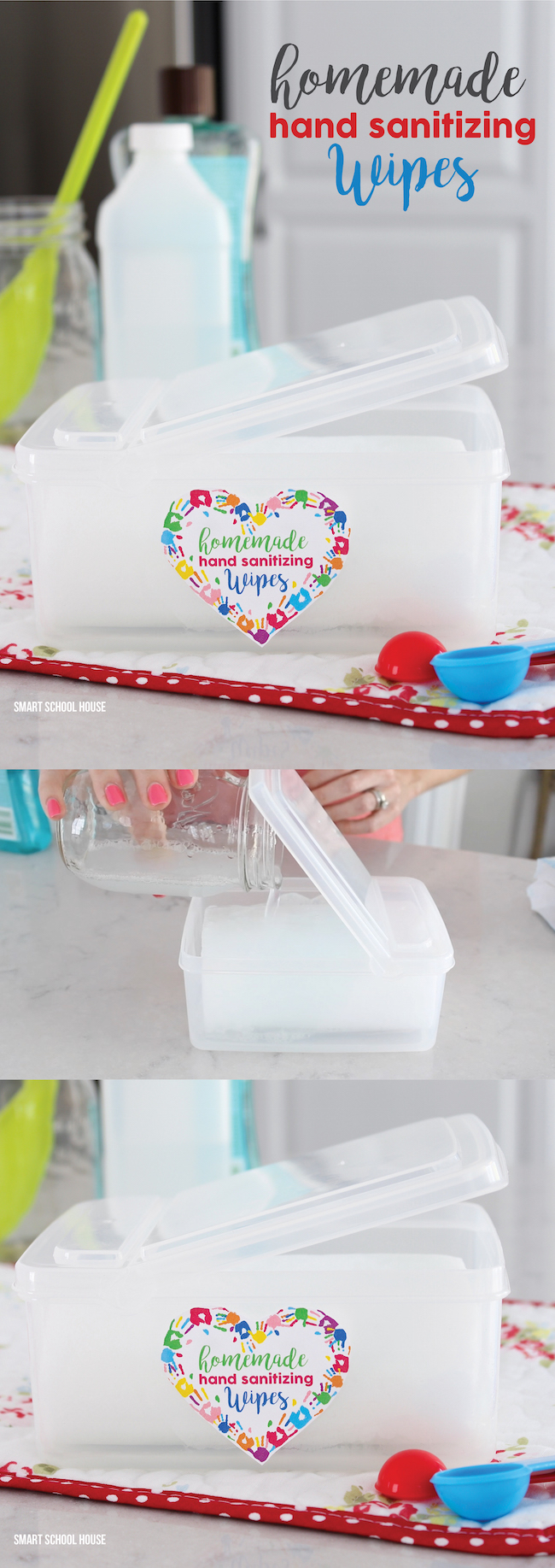 2 ingredient DIY Homemade Hand Sanitizing Wipes Tutorial. Use them over and over again!