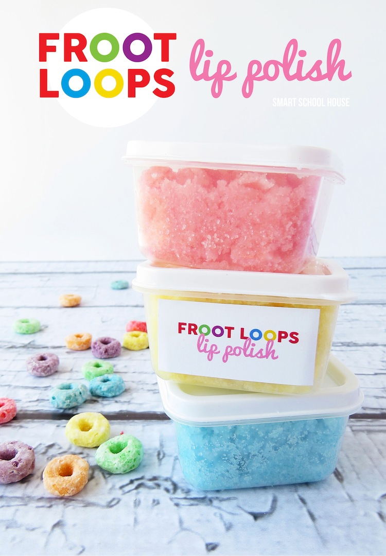DIY Froot Loops sugar scrub for lips
