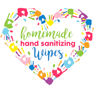 Hand Sanitizing Wipes label