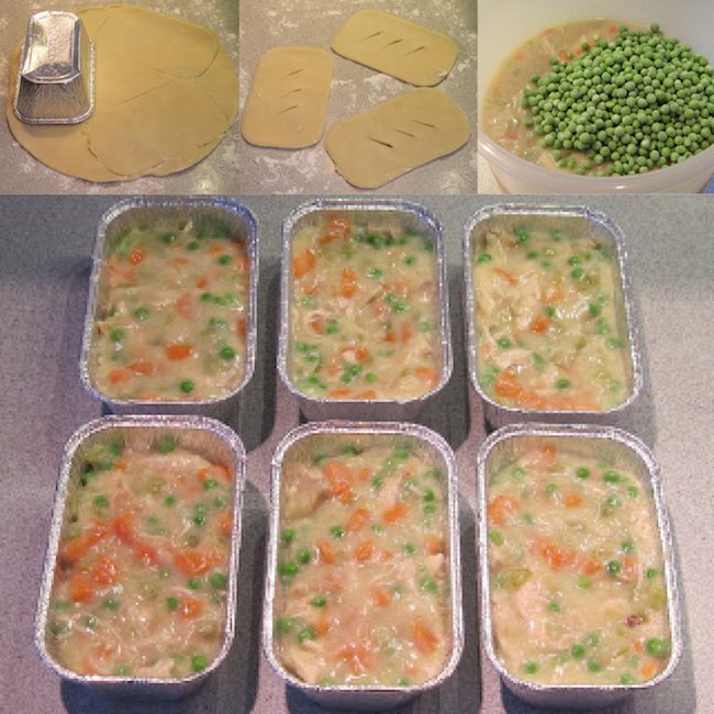 Make-Ahead Mini Chicken Pot Pies. Make ahead meals for busy moms! Take them to work or make them for dinner. So smart!