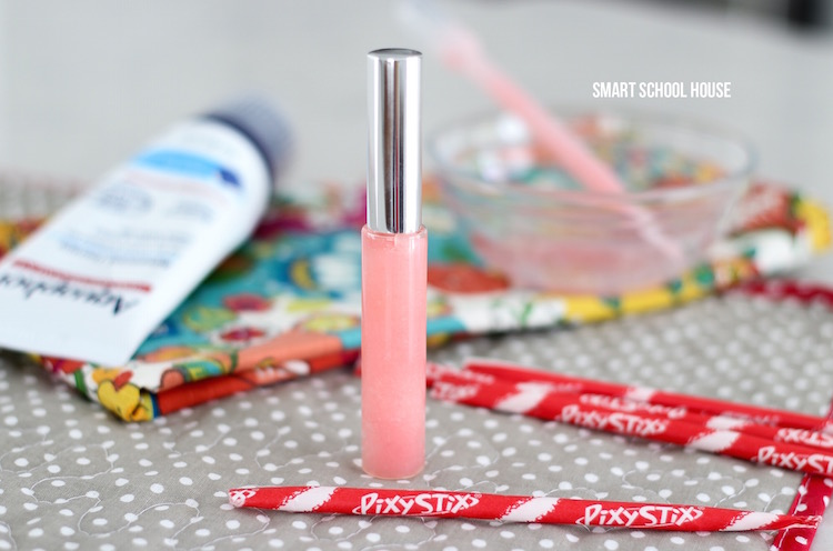 How to make lip gloss with Pixy Stix - an easy DIY lip gloss idea and tutorial.