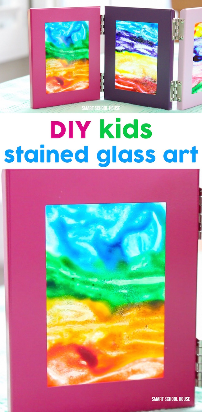 DIY Kids Stained Glass Art Idea