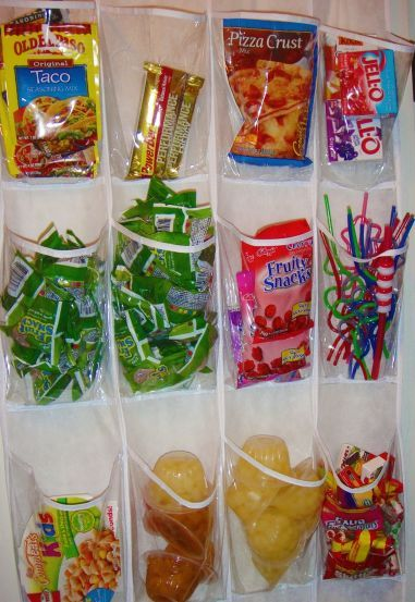 Use a wall pocket organizer for smaller items. So smart!