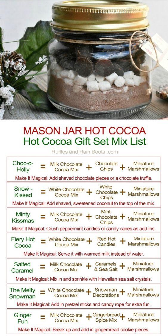 Hot Chocolate Gift in a Mason Jar