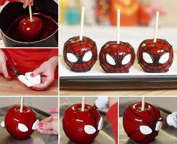 SPIDERMAN candy apples! For Halloween or birthday parties!
