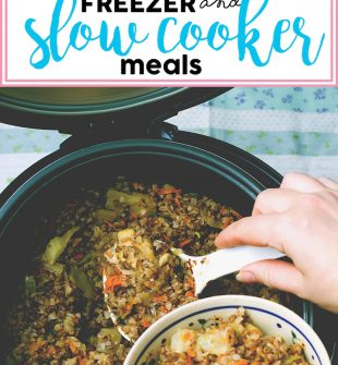 Freezer and slow cooker meals! Easy and quick make ahead recipes for your crock pot. Just dump and go!