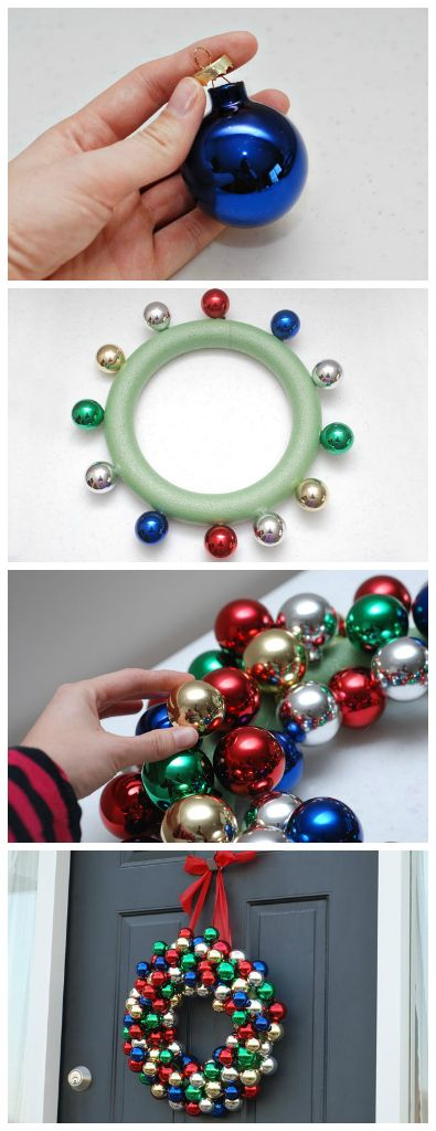 Super simple and inexpensive Christmas wreath. Handmade Christmas wreaths are the best.