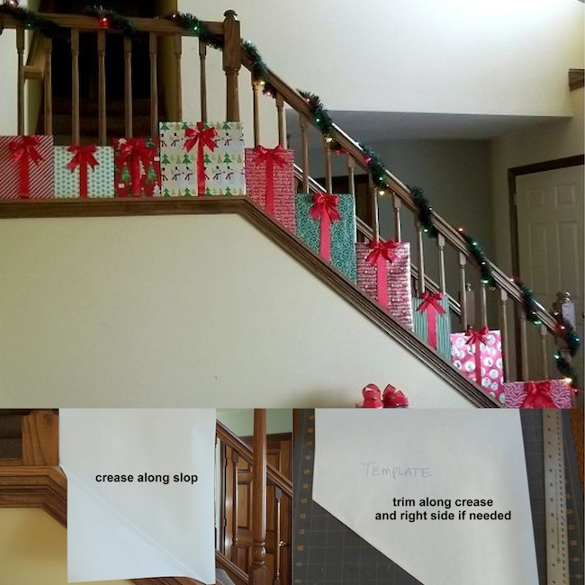 Decorate The Stairs For Christmas: Christmas Decorating Hacks