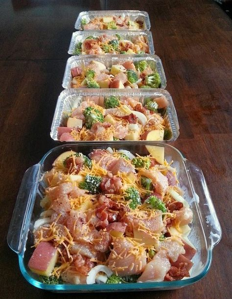 Freezer Cooking: Chicken, Broccoli, Bacon & Potato Bake. A tasty meal that is easy to double, triple or quadruple, so you have plenty of freezer meals when you need one!