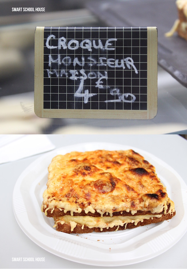 Croque Monsieur Maison - a buttery, cheesy, slightly crispy sandwich from heaven