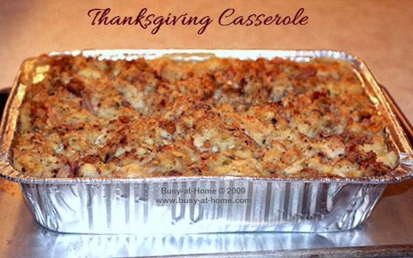 4 ingredient Thanksgiving Casserole. A Little bit of heaven on a plate. The most savory and delicious casserole you will ever serve to friends and family. Use this with your leftover Thanksgiving turkey!