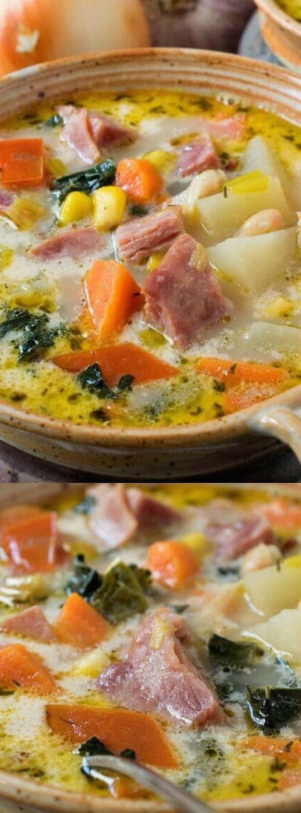 Ever find yourself with a leftover ham bone from Thanksgiving dinner? This Ham & Vegetable Soup is the perfect leftover meal! A reader favorite and one of the most popular soup recipes ever!