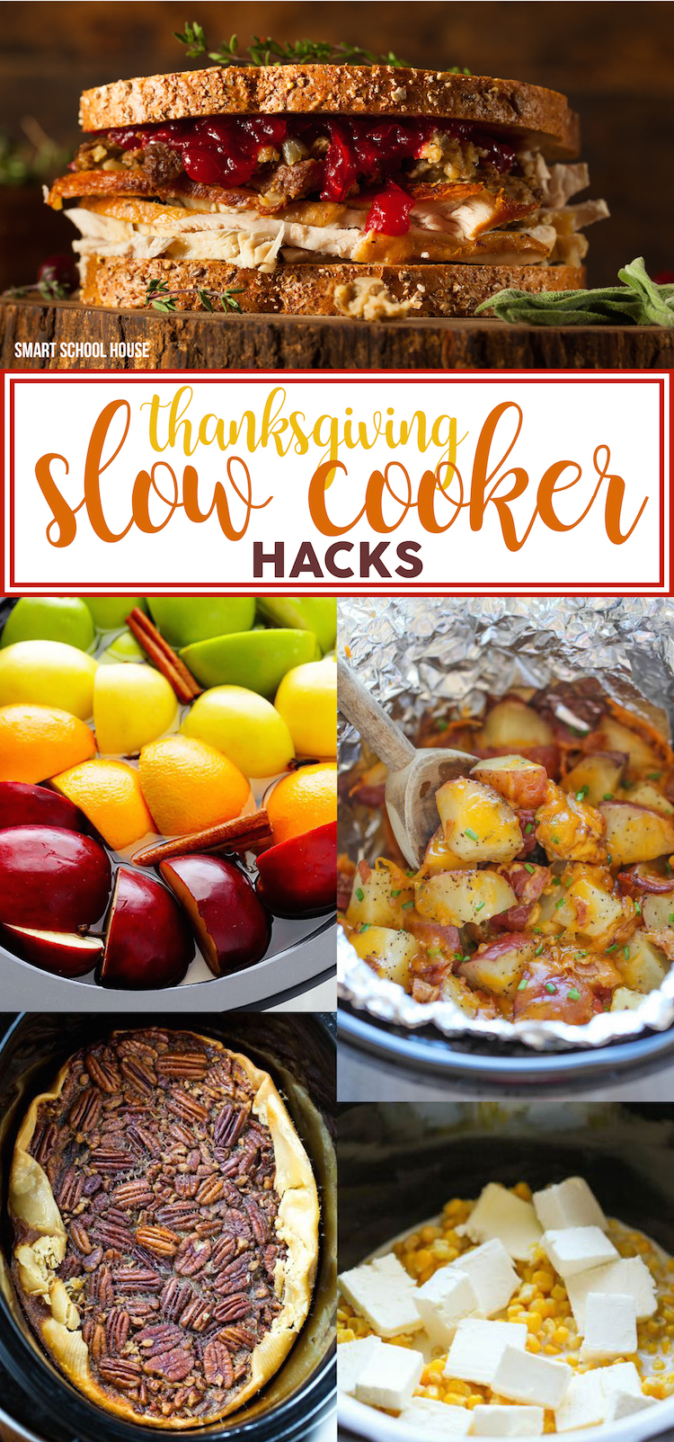 Thanksgiving Slow Cooker Hacks - take it easy this holiday with these crock pot Thanksgiving recipes that will save your life in the kitchen!