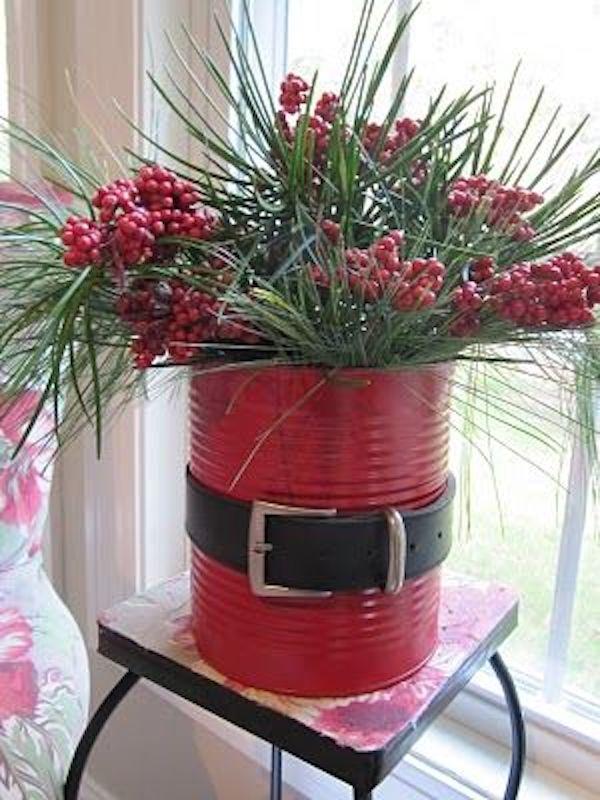 Santa planter! CUTE and CHEAP!