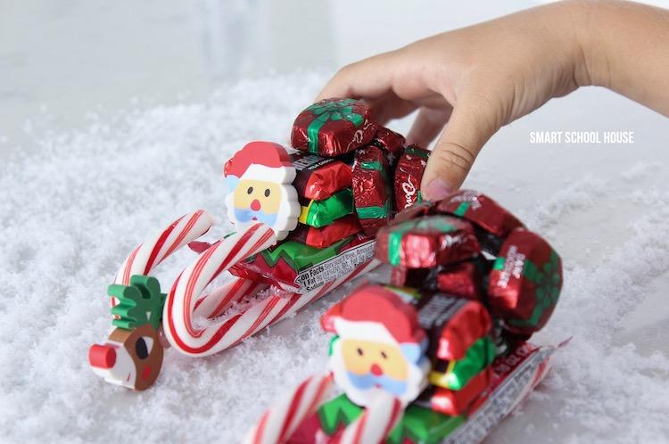 how to make a candy sleigh adorable diy mini santa candy sleigh for classrooms - Candy Sleighs For Christmas