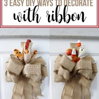 Decorate Cupboards with Ribbon