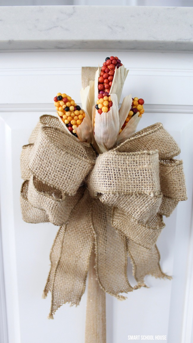 3 Easy ways to decorate with ribbon. Inexpensive and ADORABLE Thanksgiving decor!