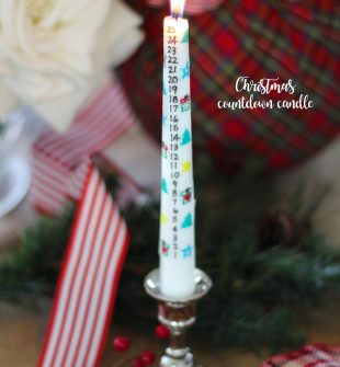 How to make a DIY Christmas Countdown Candle for the holidays! Transfer any design you create (or print ours out) and easily transfer it to a candle without any special tools. It's as simple as 1-2-3! An ADORABLE Christmas tradition idea and craft.