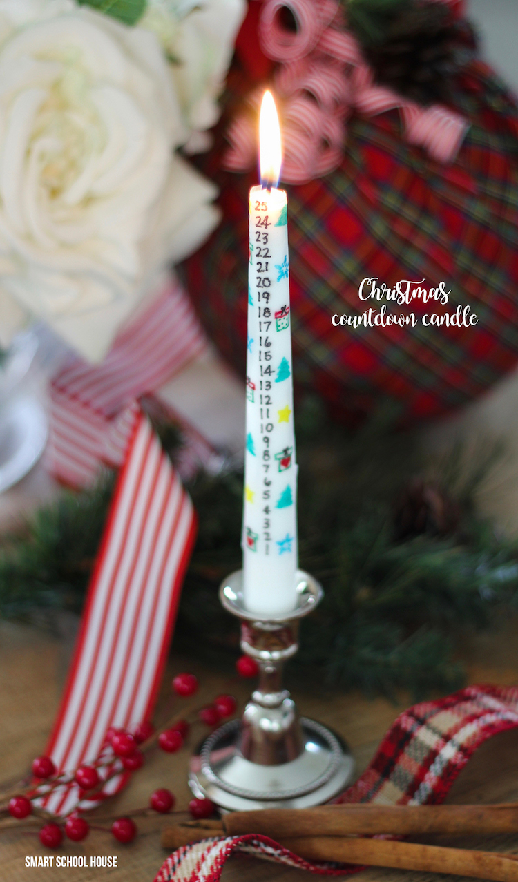 Christmas Countdown Candle Page 2 Of 2 Smart School House