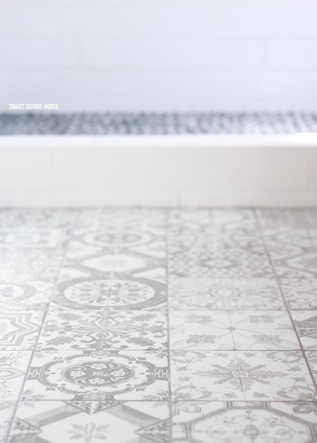 Gray and White Bathroom - Smart School House