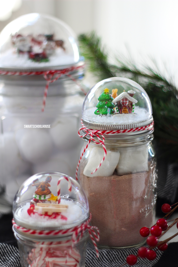 Mason Jar Lid Snow Globe Smart School House
