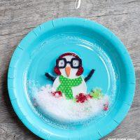 Plastic Plate Snow Globe