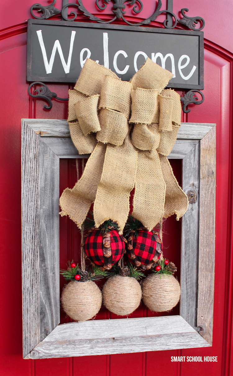 Rustic Christmas Wreath Diy.Picture Frame Christmas Wreath Smart School House