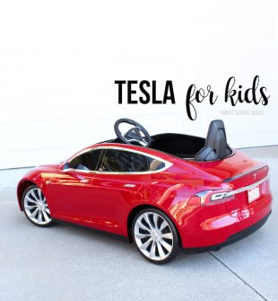 Tesla for Kids. A REAL Model S Tesla for Kids. It actually goes fast (way faster than I thought it would!)