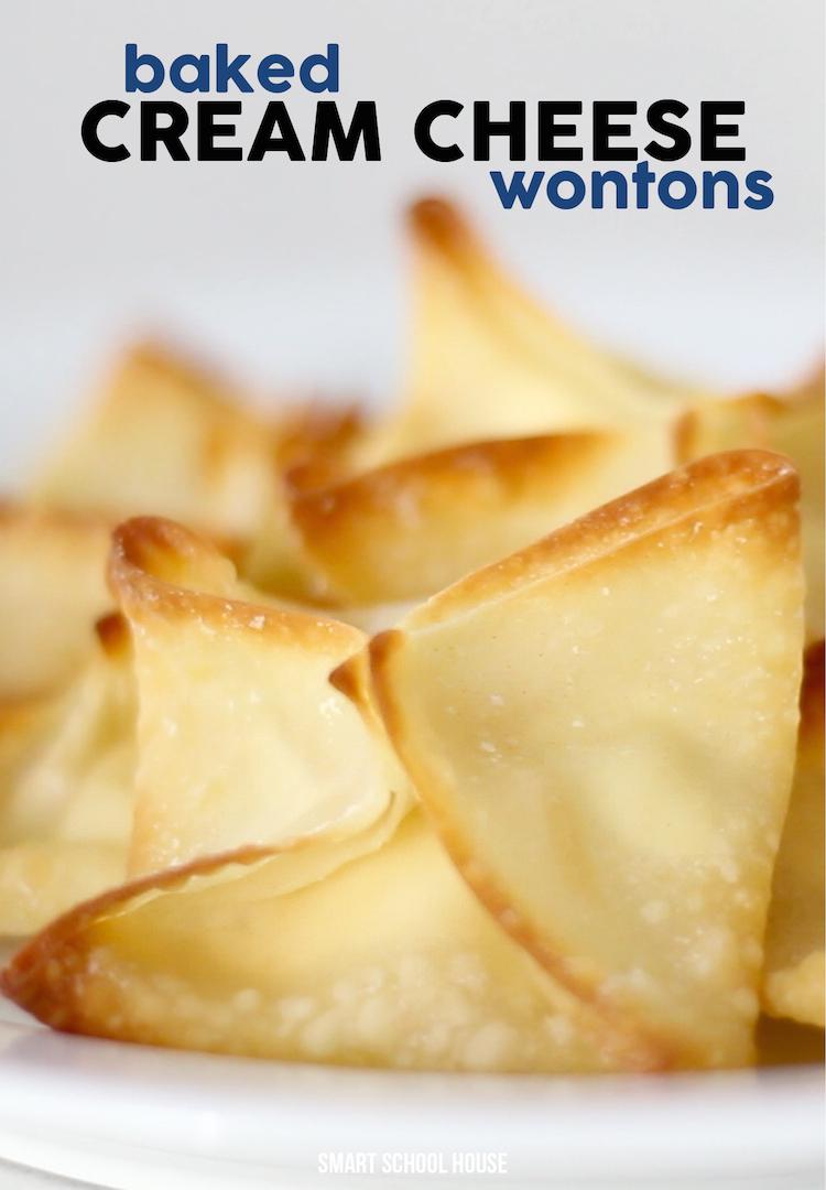 Baked cream cheese wontons. SO DELICIOUS!