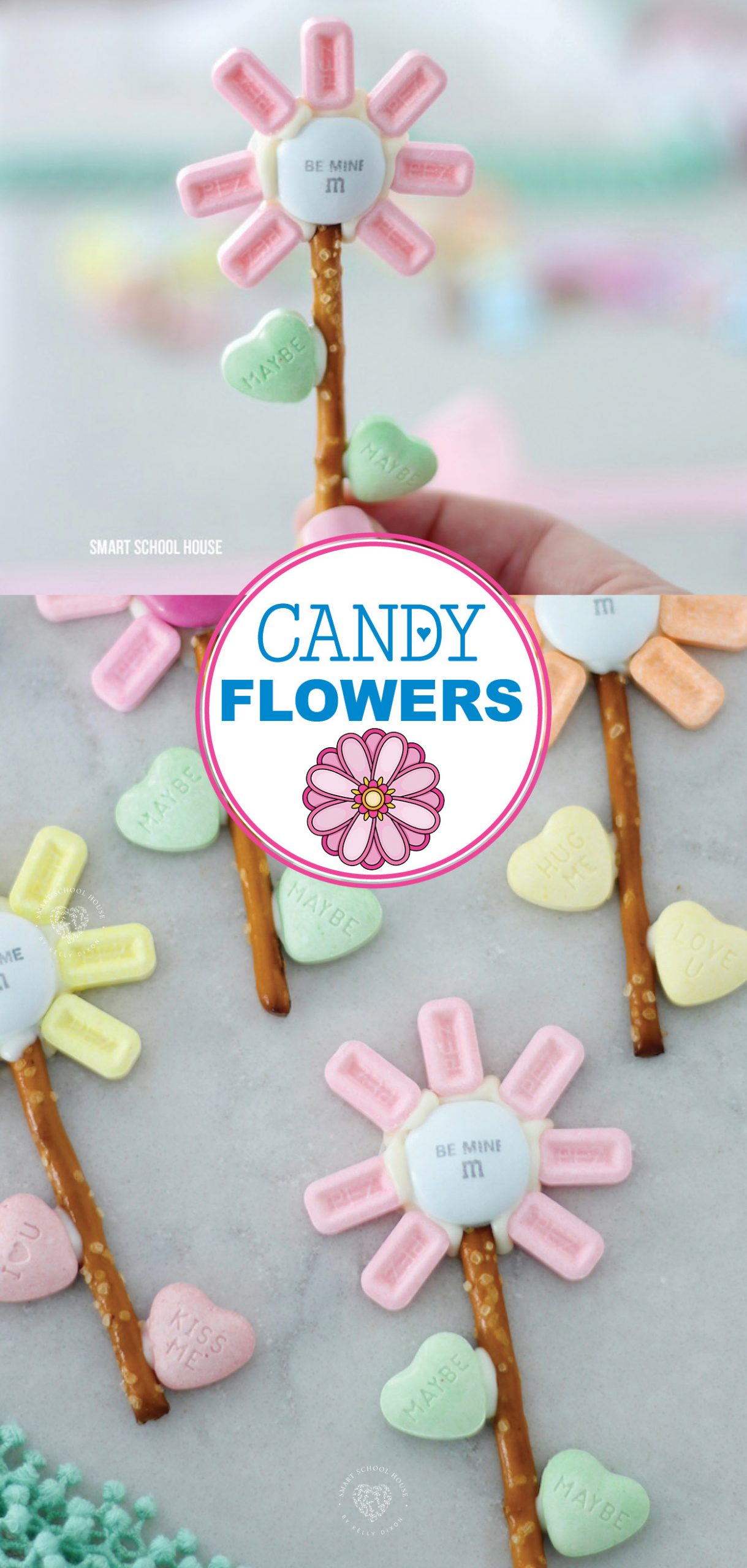 Candy Flowers! A DIY Valentine's Day idea.