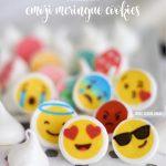 3 ingredient and fat-free emoji meringues. ADORABLE!