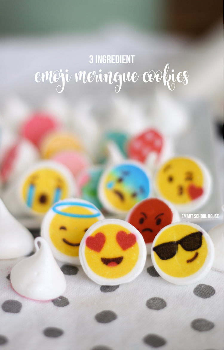 3 ingredient and fat-free emoji meringues. ADORABLE!