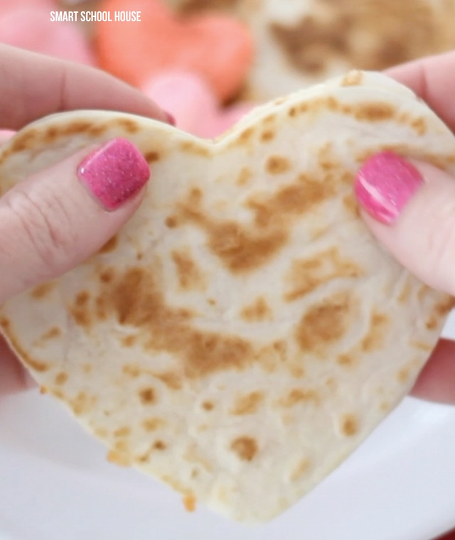 Heart Shaped Quesadillas