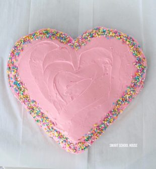 How to make a homemade heart cake for $6!
