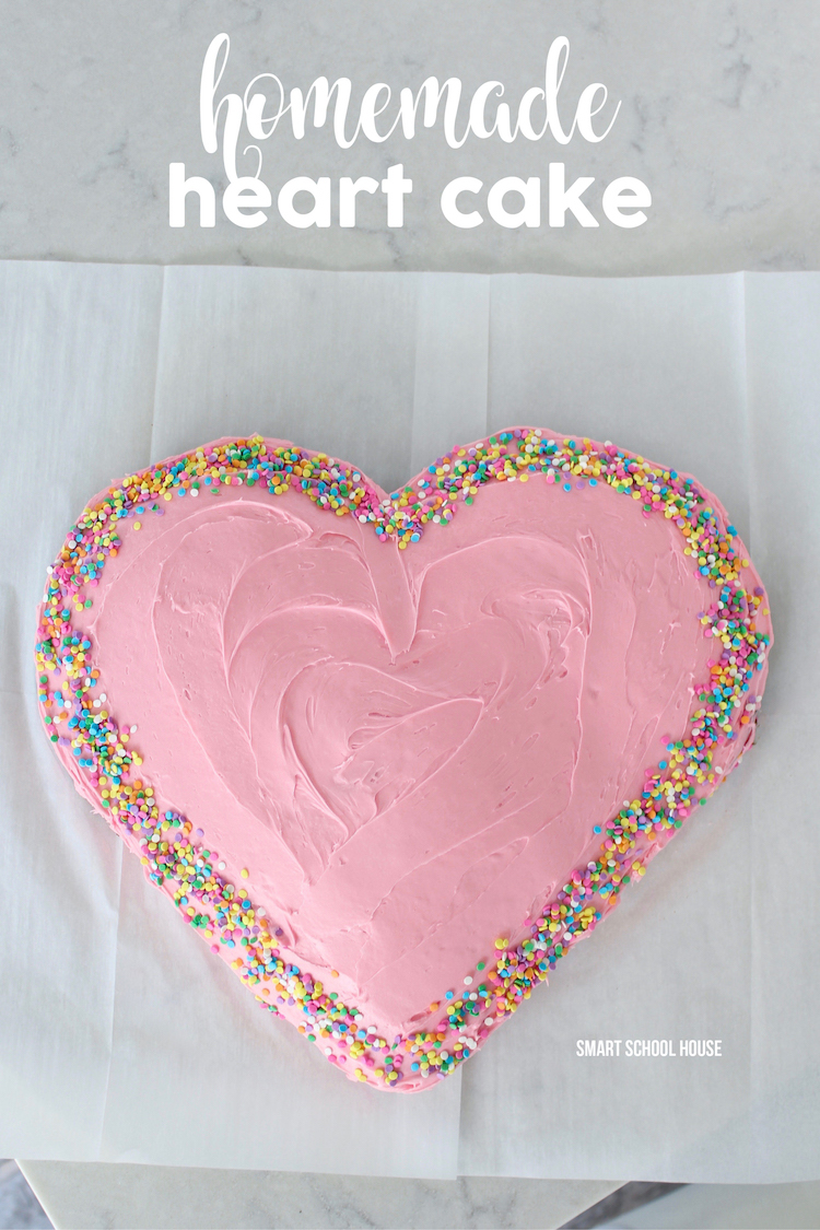 How to make a homemade heart shaped cake for $6! Easy DIY Valentine's Day or Birthday cake idea.