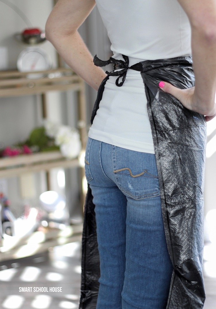 How to make a trash bag apron.