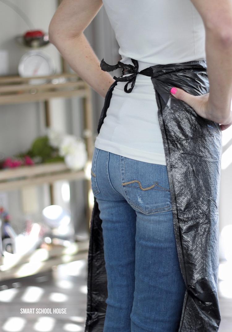How to make a trash bag apron.