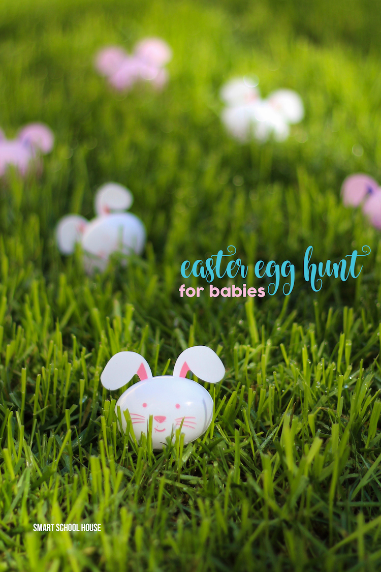 The BEST Easter egg hunt idea for babies and toddlers. So easy! Healthy, no candy, fun, and easy!